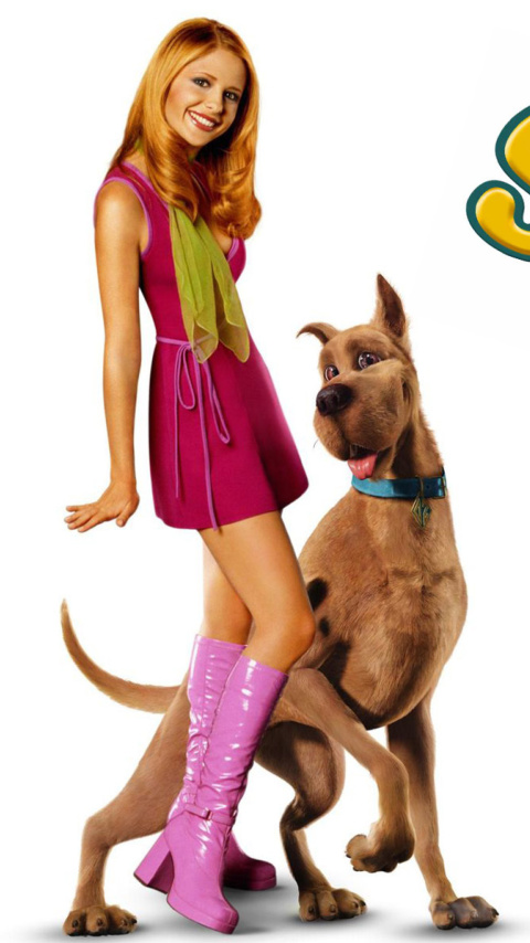 Screenshot №1 pro téma Sarah Michelle Gellar with Dog 480x854