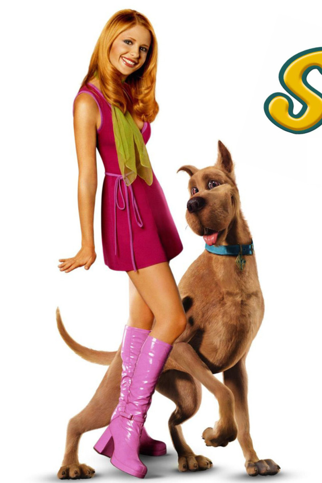 Screenshot №1 pro téma Sarah Michelle Gellar with Dog 640x960