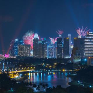 Singapore Fireworks - Obrázkek zdarma pro 208x208
