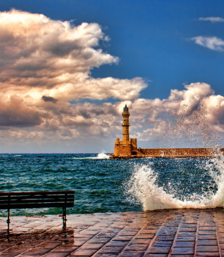 Lighthouse In Greece - Obrázkek zdarma pro Nokia C2-00