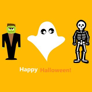 Halloween Costumes Skeleton and Zombie - Obrázkek zdarma pro iPad Air