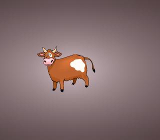 Funny Cow Illustration - Obrázkek zdarma pro iPad 2