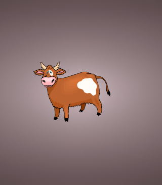 Funny Cow Illustration - Obrázkek zdarma pro 750x1334