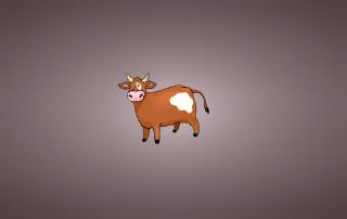 Funny Cow Illustration - Obrázkek zdarma pro Widescreen Desktop PC 1280x800
