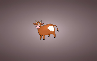 Funny Cow Illustration - Obrázkek zdarma pro Samsung Galaxy Tab 3 10.1