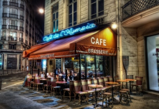 Free Paris Cafe Picture for Android, iPhone and iPad