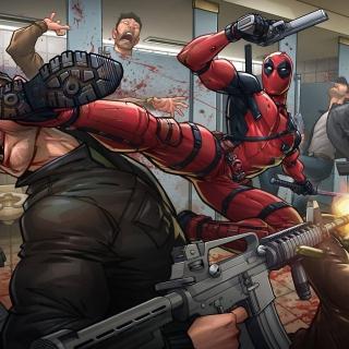 Deadpool Art - Obrázkek zdarma pro 1024x1024