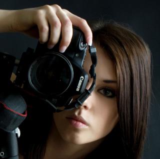 Girl Photographer - Obrázkek zdarma pro iPad mini 2