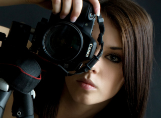 Girl Photographer - Obrázkek zdarma pro Samsung Galaxy Nexus