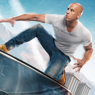 Fast & Furious Supercharged Poster with Vin Diesel - Obrázkek zdarma pro 2048x2048