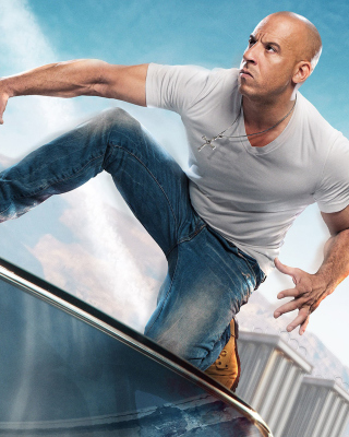 Fast & Furious Supercharged Poster with Vin Diesel - Obrázkek zdarma pro Nokia Asha 306