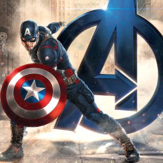 Captain America Marvel Avengers - Obrázkek zdarma pro iPad Air