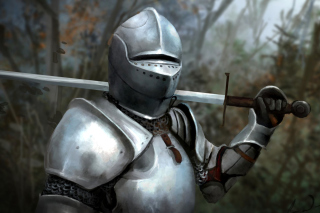 Medieval knight in armor Picture for Android, iPhone and iPad