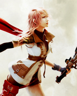 Lightning Final Fantasy XIII - Obrázkek zdarma pro 480x800