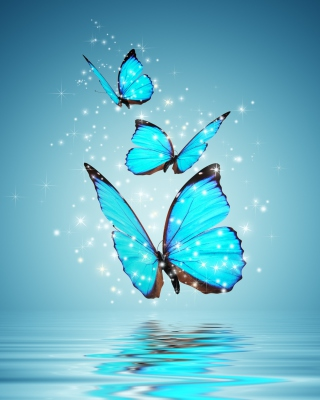 Glistening Magic Butterflies - Obrázkek zdarma pro Nokia Lumia 625