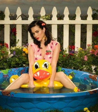 Katy Perry And Yellow Duck - Obrázkek zdarma pro iPhone 5C