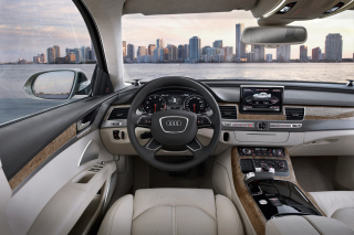 Audi A8 Interior Wallpaper for Android, iPhone and iPad