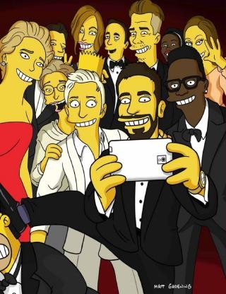 Simpsons Oscar Selfie - Obrázkek zdarma pro Nokia C-Series