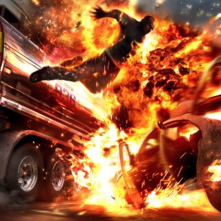 Car Crash Explosion - Obrázkek zdarma pro iPad mini