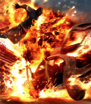 Car Crash Explosion - Obrázkek zdarma pro Nokia Asha 203