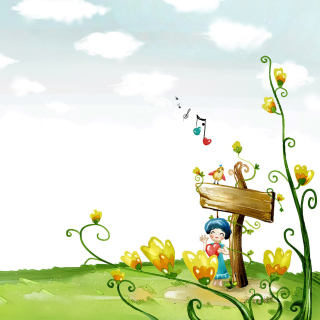 Fairyland Illustration - Obrázkek zdarma pro iPad Air