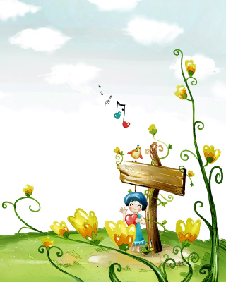 Fairyland Illustration - Obrázkek zdarma pro Nokia Lumia 820