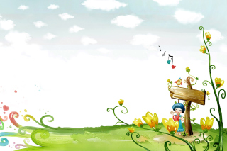 Fairyland Illustration - Obrázkek zdarma pro Widescreen Desktop PC 1920x1080 Full HD