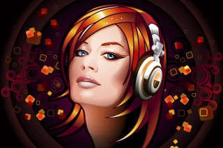 Headphones Girl Illustration - Obrázkek zdarma pro Widescreen Desktop PC 1920x1080 Full HD