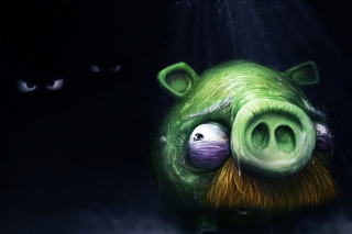 Angry Birds Alone Pig Background for Android, iPhone and iPad