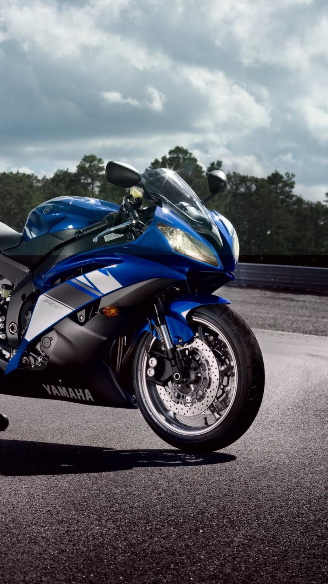 Blue Yamaha R6 Wallpaper for 1080x1920