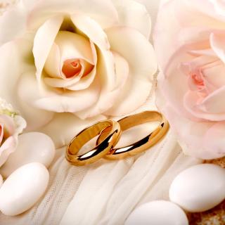 Roses and Wedding Rings - Obrázkek zdarma pro 128x128