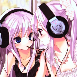 Anime Girl in Headphones - Obrázkek zdarma pro 208x208