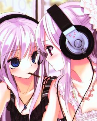 Anime Girl in Headphones - Obrázkek zdarma pro 360x480