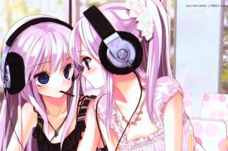 Anime Girl in Headphones - Obrázkek zdarma pro Nokia Asha 200
