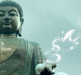 Abstract Buddha - Obrázkek zdarma pro 320x320