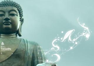 Abstract Buddha - Obrázkek zdarma pro Nokia Asha 205
