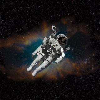 Skull Of Astronaut In Space - Obrázkek zdarma pro iPad Air