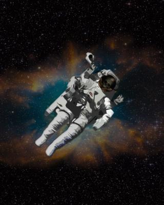 Skull Of Astronaut In Space - Obrázkek zdarma pro Nokia Asha 203