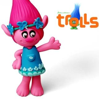 Trolls 2016 HD - Obrázkek zdarma pro 1024x1024