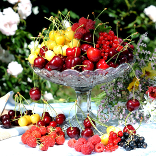 Summer berries and harvest - Obrázkek zdarma pro 128x128