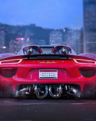 Porsche 918 Spyder Red - Obrázkek zdarma pro Nokia Lumia 800