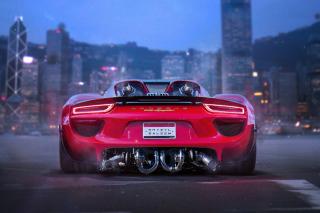 Porsche 918 Spyder Red - Obrázkek zdarma pro Fullscreen Desktop 1600x1200