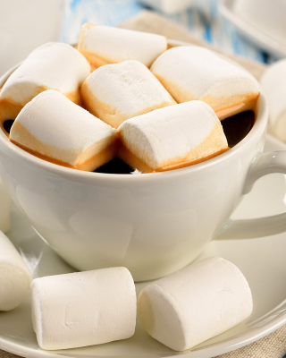 Marshmallow and Coffee - Obrázkek zdarma pro Nokia Asha 308