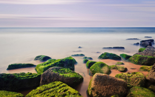 Stones Near Sea Wallpaper for Android, iPhone and iPad