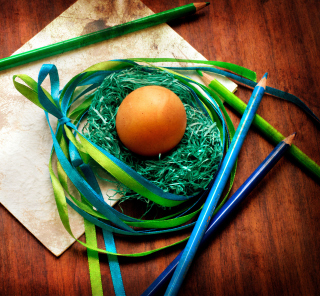 Egg In Nest - Obrázkek zdarma pro 128x128
