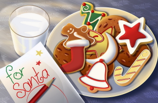 Free Sweets For Santa Picture for Android, iPhone and iPad