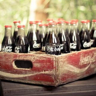 Vintage Coca-Cola Bottles - Obrázkek zdarma pro iPad