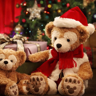 Christmas Teddy Bears - Obrázkek zdarma pro iPad mini 2