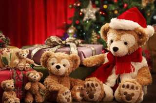 Christmas Teddy Bears Wallpaper for Android, iPhone and iPad