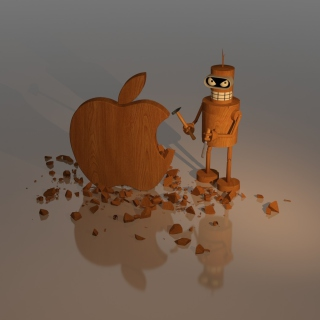 Bender Against Apple - Obrázkek zdarma pro iPad